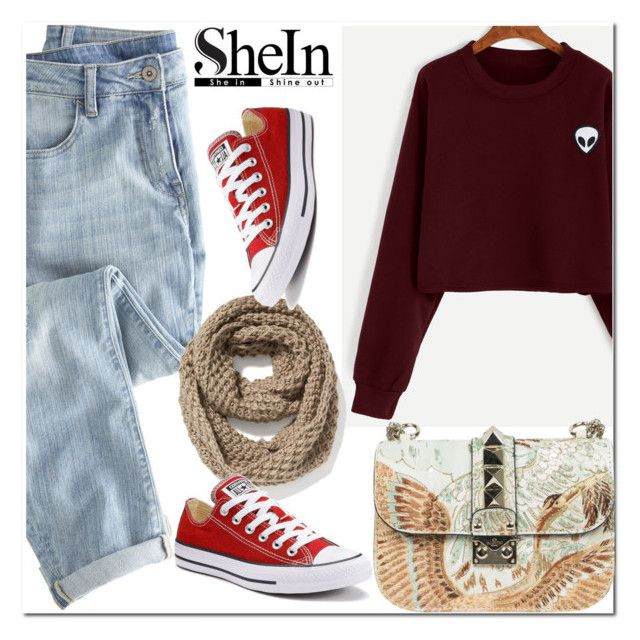 """""""Shein - contest"""" by aida-nurkovic ❤ liked on Polyvore featuring Valentino, Wrap, Old Navy and Converse"""