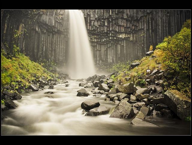 Black Fall - Skaftafell National Park - Iceland