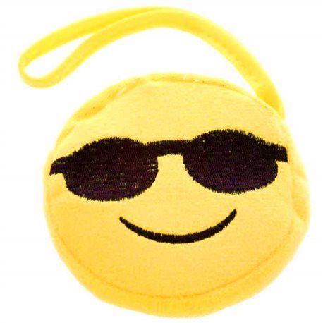 porte-monnaie emoji smiley lunette de soleil