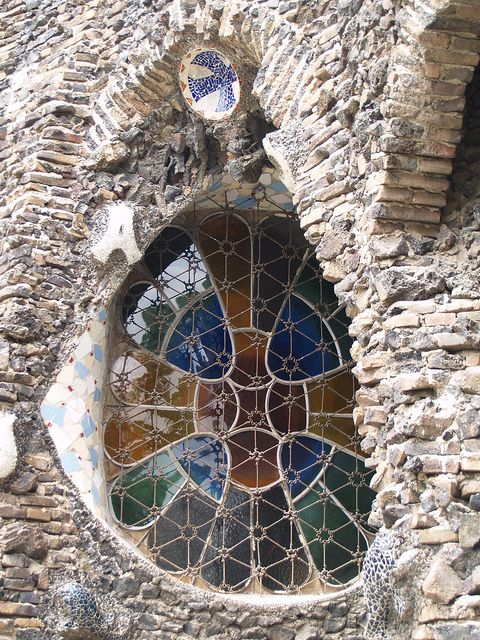 Antonio Gaudi, Colonia Guell, Art Nouveau, Stained Glass.