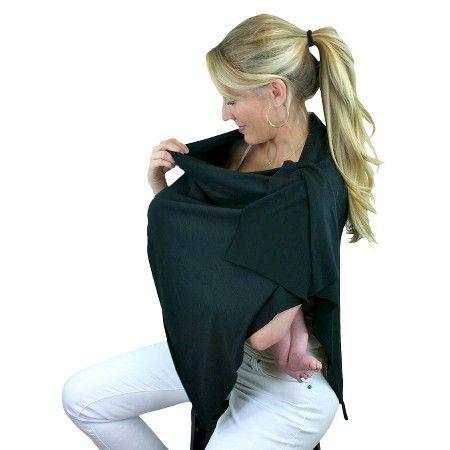 Bamboobies Chic Nursing Shawl - Black : Target