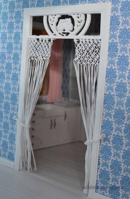 Pikkuprinsessan Nukkekoti Willa Helmiina/Dollhouse To My Little Princess:  Makramee Verho/Makrame Curtain