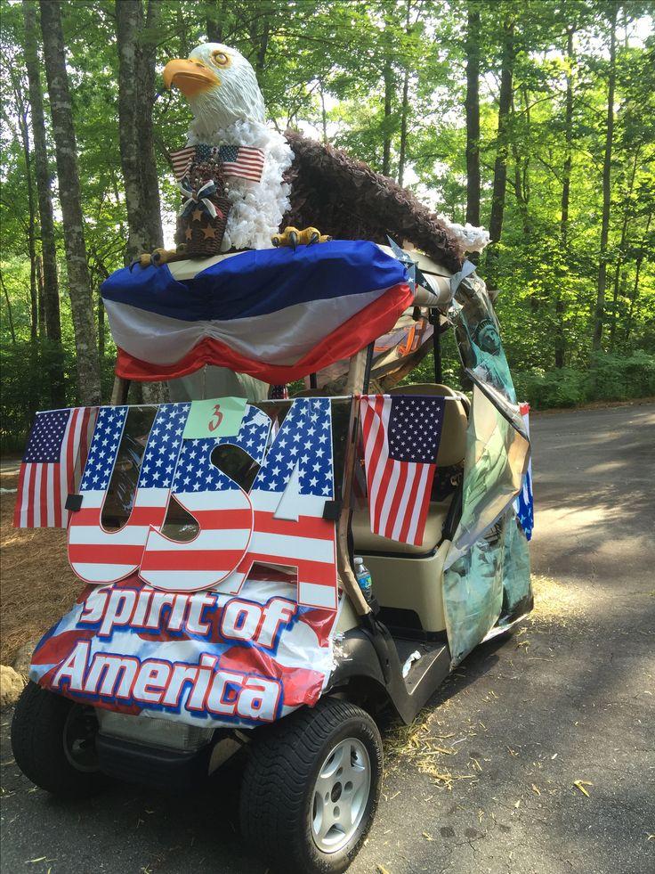 Best patriotic decorations images on pinterest golf