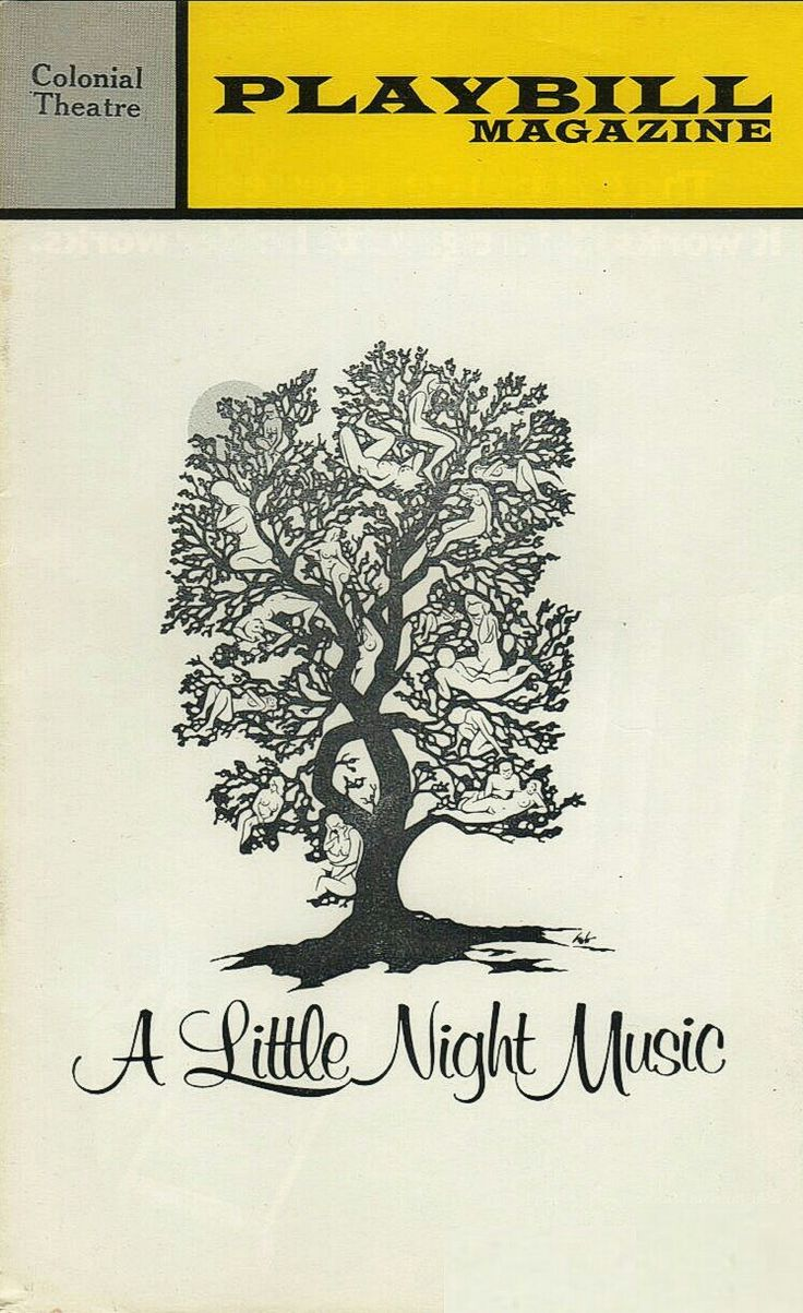 """World Premiere of """"A Little Night Music"""" at Boston's Colonial Theatre ... .January 23 - February 10, 1973 ... Production Design by Boris Aronson ... Music and Lyrics by Stephen Sondheim ... Directed.by Harold Prince"""