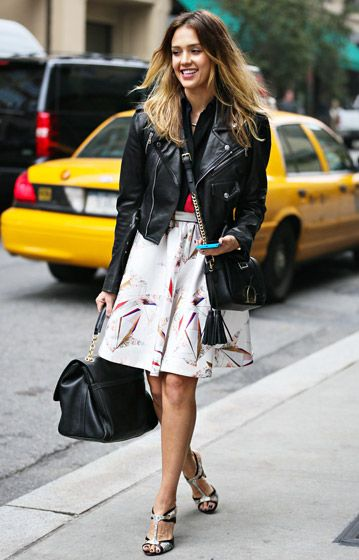 Jessica Alba in #NYC #streetstyle