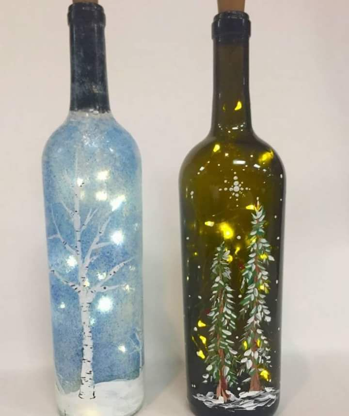 70 Adorable Wine Bottle Painting Ideas For Diy Home Decor Wine Bottle Crafts Christmas Glass Bottle Diy Wine Bottle Decor