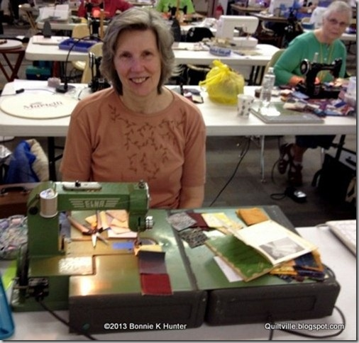 Quiltville's Quips & Snips!!  Me in Bonnie's class with my grasshopper.