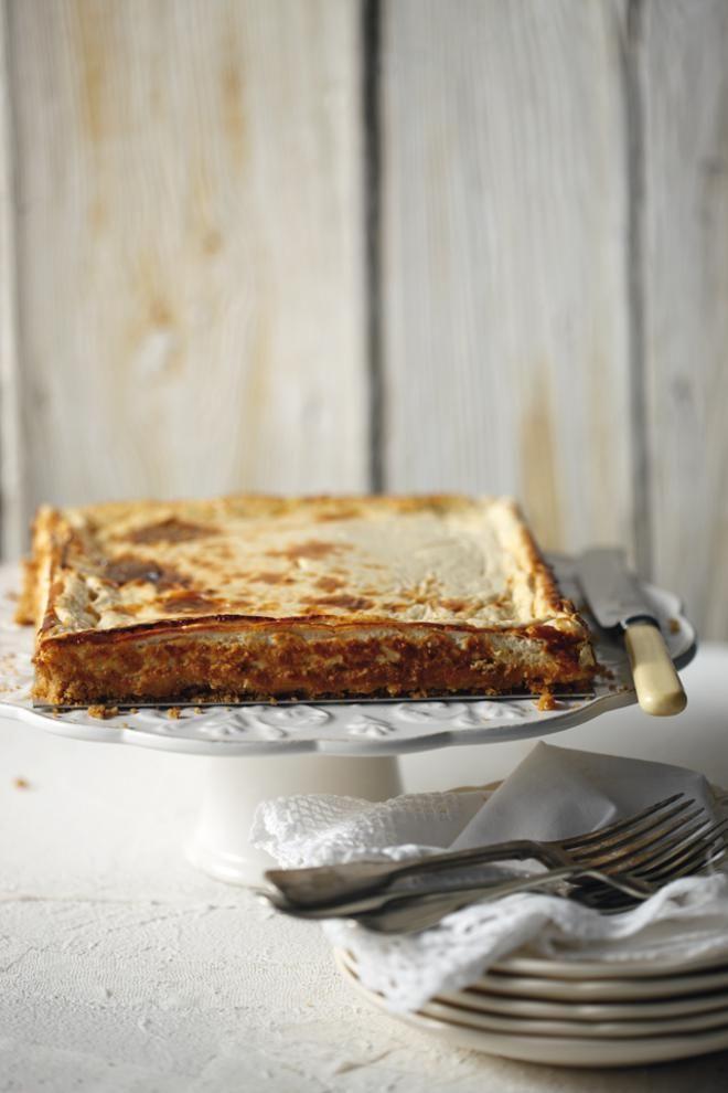 Ψητό cheesecake με γλυκό κρασί Gewurztraminer