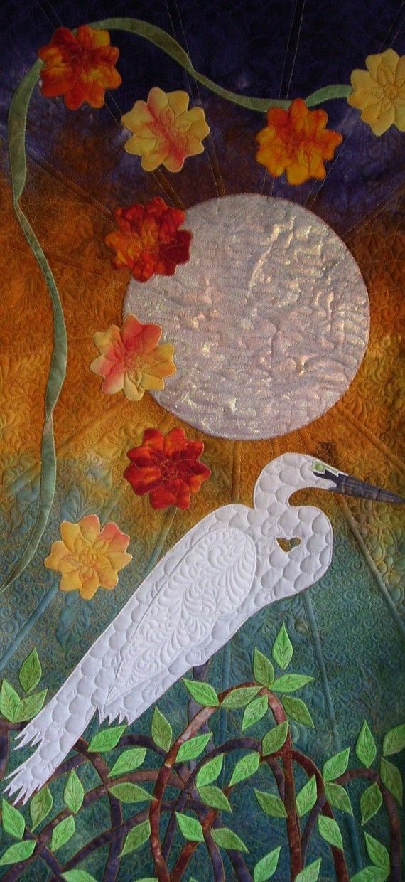 Sultry Moon Wall Hanging pattern and gradient fabric by Vicki Welsh