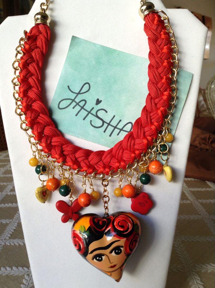 Collar De Moda Frida Kahlo En Coraz 243 N De Cer 225 Mica