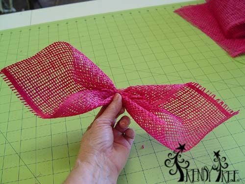 trendy tree deco mesh flower pinecrest | holding this petal so you can see how I have it pinched up, but ...