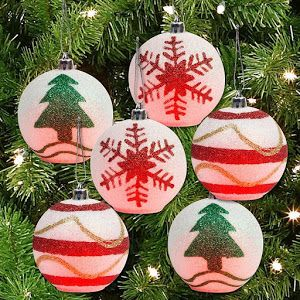 Color Changing Glitter Christmas Ornaments