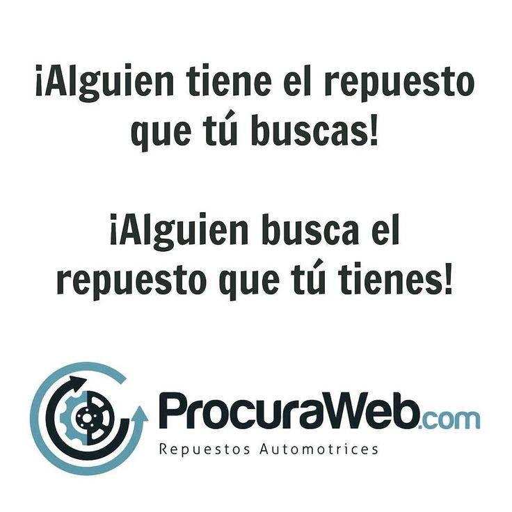 Tu compañía de seguros no logra ubicar a tiempo los repuestos para tu carro? o sencillamente no los consigue? No te preocupes! Usa @ProcuraWeb y ubícalos rápida y facilmente desde la comodidad de tu casa u oficina solo tienes que registrarte en http://ProcuraWeb.com y solicitar los repuestos que necesitas!  #Seguros #Flotas #Talleres #Intermediarios #Concesionarios #Autopartes #Asegurados #Particulares #Ahorra #Tiempo #Dinero #Multimarcas #Subastas