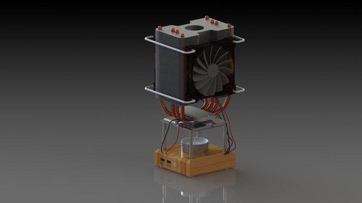 Thermoelectric Generator TEG with candle - SOLIDWORKS,SOLIDWORKS - 3D CAD model - GrabCAD