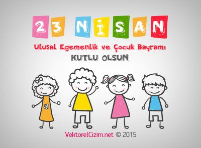 Vektörel Çizim | 23 Nisan Ulusal Egemenlik ve Çocuk Bayramı