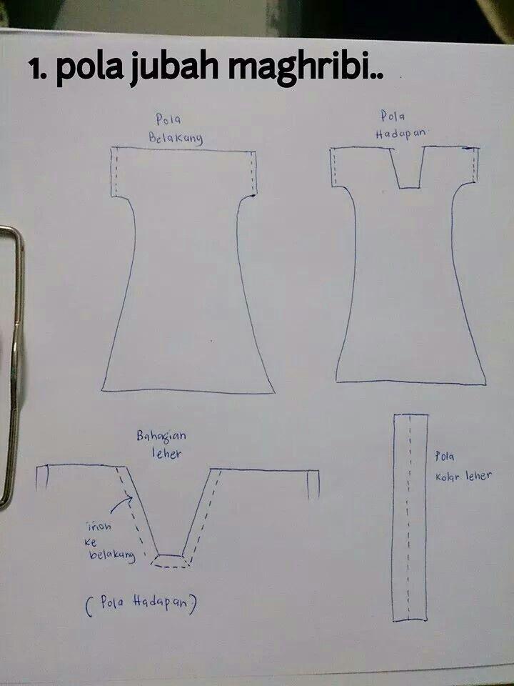 Pola jubah maghribi