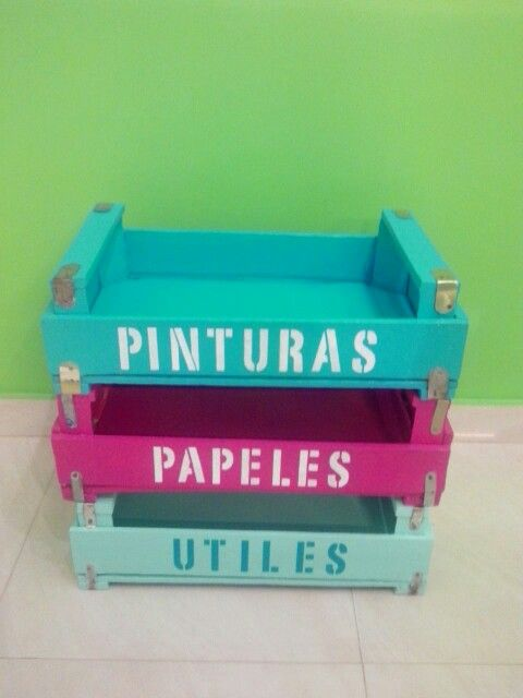 Cajones reciclados organizadores