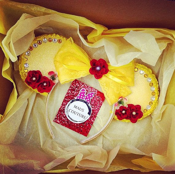 Beauty and the Beast Minnie Ears by MausCouture on Etsy