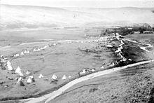 Nez Perce people - Encampment, Lapwai,   Idaho, 1899