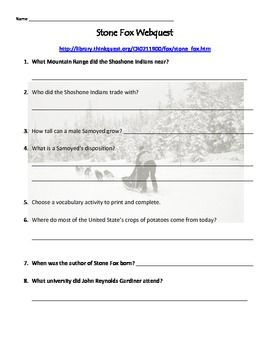 Printables Stone Fox Worksheets 1000 images about stone fox on pinterest free teaching resources webquest