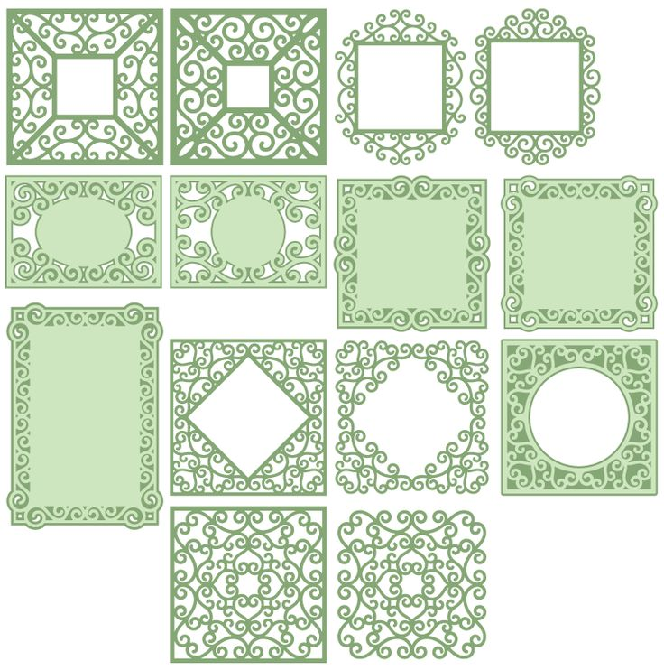 Square Frame SVG files for using with your electronic cutting machines, terms of use can be found within your downloads or by clicking here.     Square Lacey Frames A bundle of decorative…