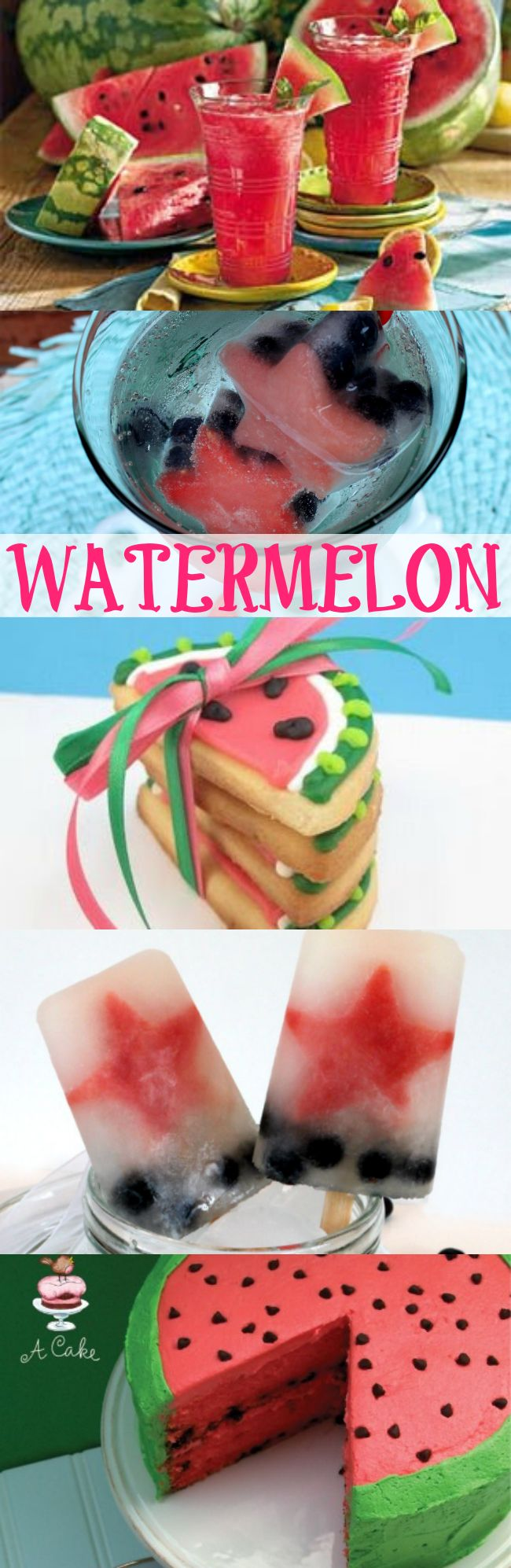 There are so many easy ways to enjoy watermelon in the summer besides biting into a slice! Enjoy these other Watermelon Drinks and Desserts  |  OHMY-CREATIVE.COM
