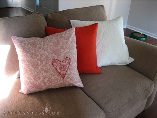 Make A Pillow Cover Out Of A Button Up Shirt The