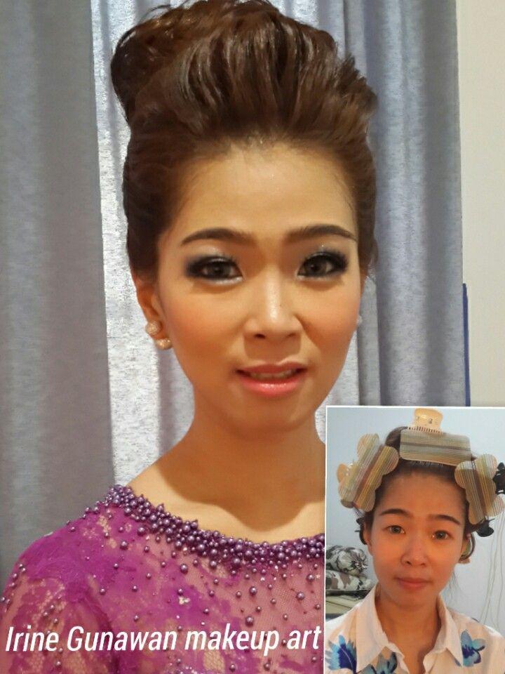 Before after makeup by Irine Gunawan  Www.rinmakeup.com MUA Jakarta, Indonesia