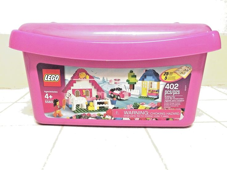 LEGO 5560 Large Pink Brick Box Tub Girls Friends 402 Pieces MIB NEW Sealed