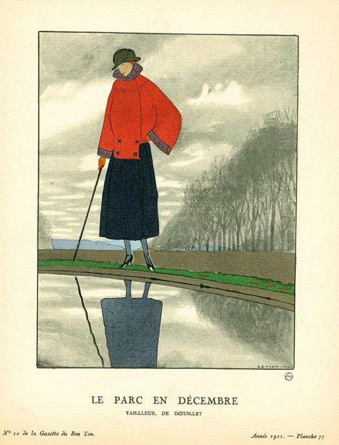 Andre Edouard Marty - Le parc en Décembre - Tailleur de Doeuillet - 1921