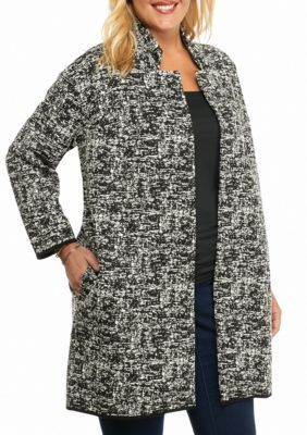Grace Elements  Plus Size Bracelet Sleeve Cardigan Jacket