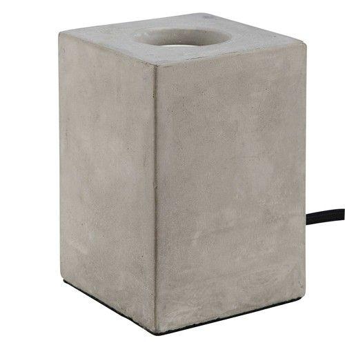 Elegant Square Lampe en ciment effet b ton