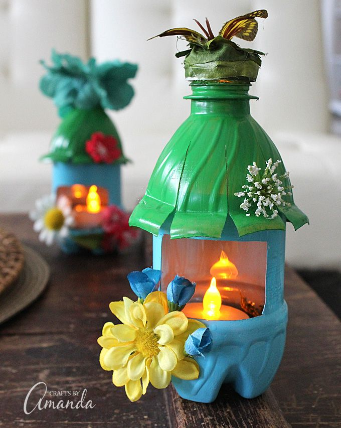 Turn Empty Plastic Water Bottles Into Adorable Little Fairy Houses