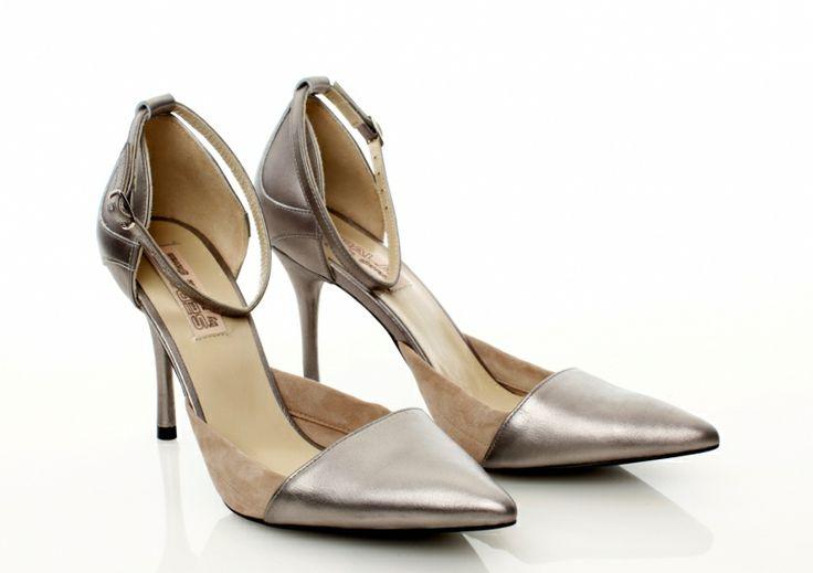 Leather silver shoes by Mihaela Glavan |  http://bit.ly/YFC6xU www.wearitwithlove.com