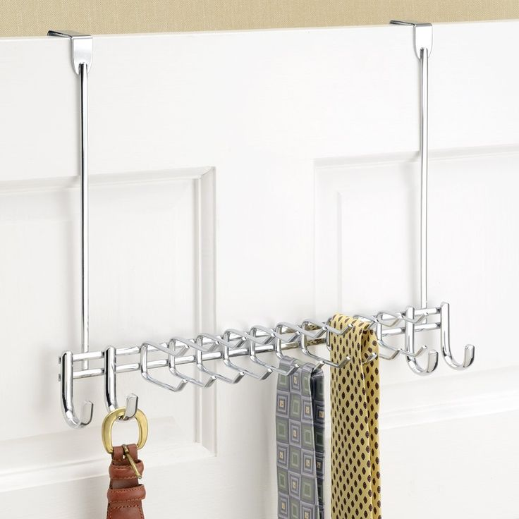 For Him // Tie Racks // Our favorite tie racks for gift giving: Over the door tie rack // Ten double hooks and four single hooks mean you have more than enough storage for your delicate accessories. Hang ties, scarves, belts, hats — there's room for all of it with the Over the Door Tie Rack. - See more at: http://www.tieracksblog.com/tie-racks/wall-mount-tie-racks/our-favorite-tie-racks-for-gift-giving-over-the-door-tie-rack/#sthash.Rlk8U5SV.dpuf