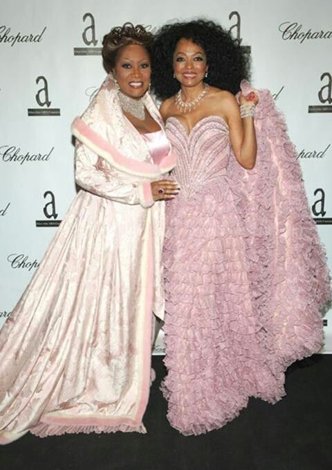 Patti LaBelle and Diana Ross----A vintage shot for posterity