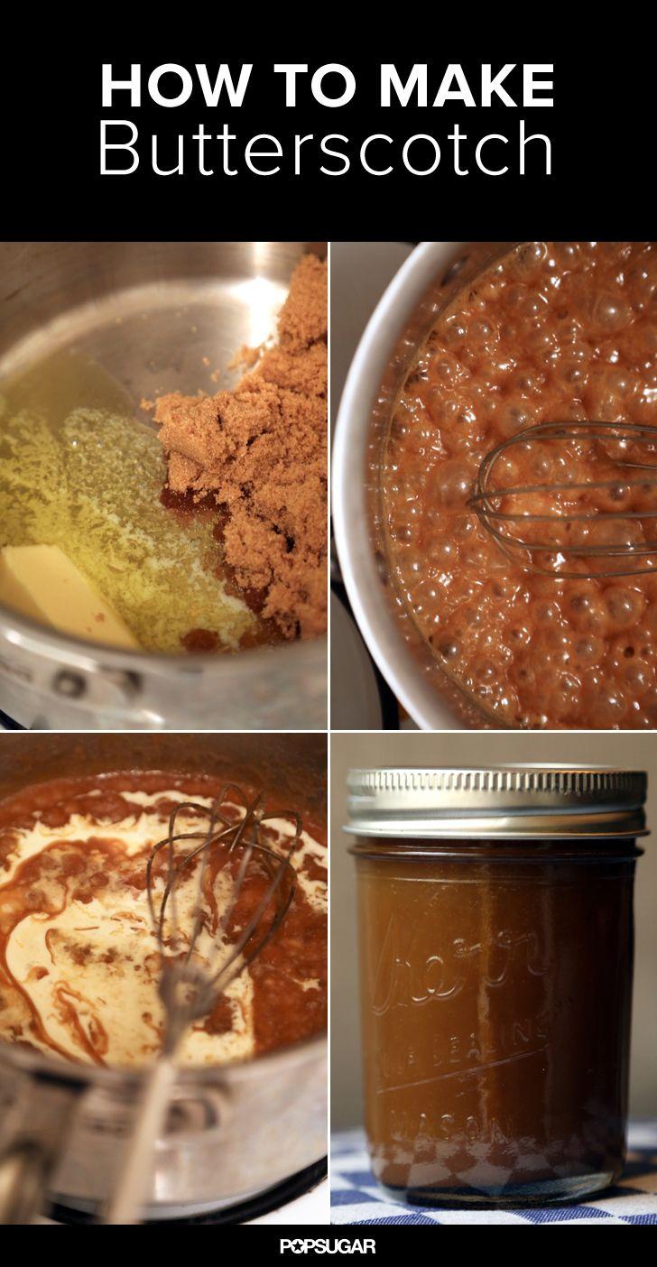 Butterscotch is basically 5-minute caramel sauce.