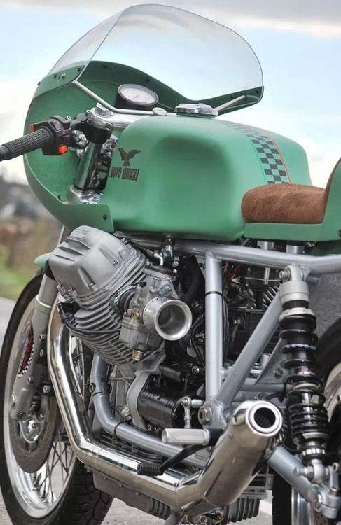 Love this color | Vintage Moto Guzzi