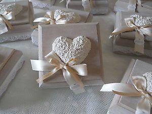 Bomboniera Shabby Chic matrimonio scatola in legno con gessetto cod. 283E - 284E