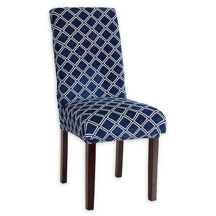 Great Bay Diamond Print Dining Chair Slipcovers Set Of 4 Bed Bath Beyond Slipcovers For Chairs Dining Chair Slipcovers Slipcovers