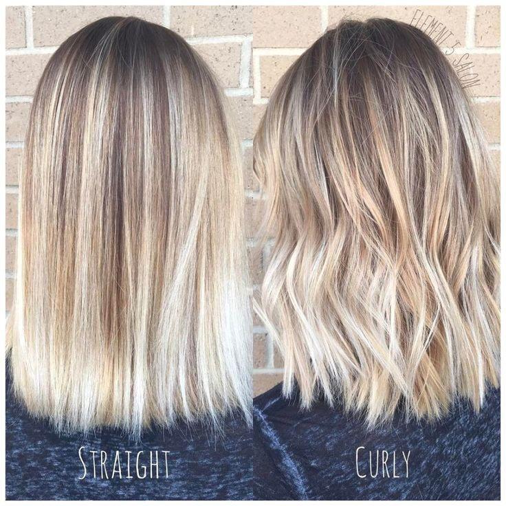 Pin Von Ashley Auf Hair Make Up In 2020 Balayage Frisur Hellblond Frisuren Mit Dauerwelle