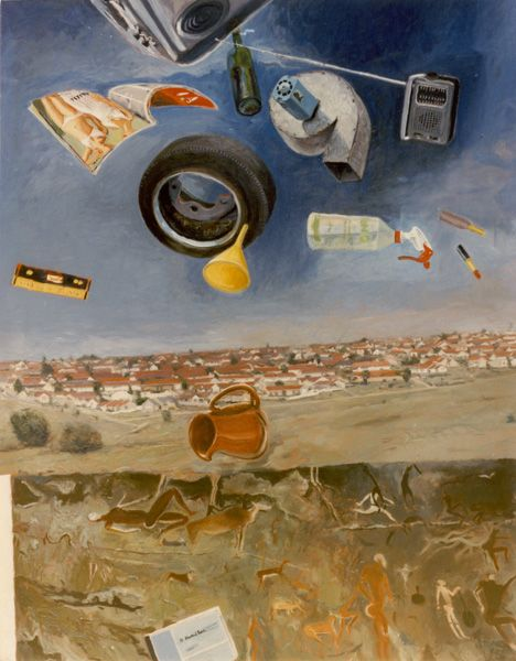 Simon Stone - A Retrospective Exhibition (Artwork entitled 'Domestic Rain', 1982) #StandardBank #Gallery #Art
