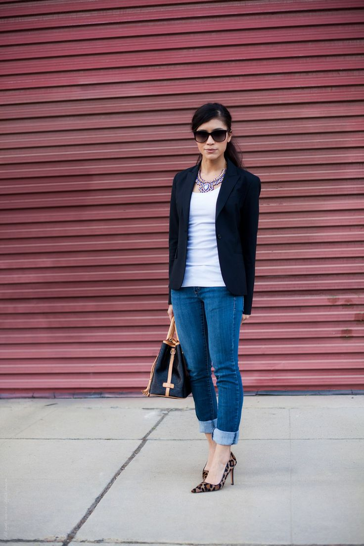 Stylishlyme - Jeans Blazer Outfit | Outfit Inspiration | Pinterest