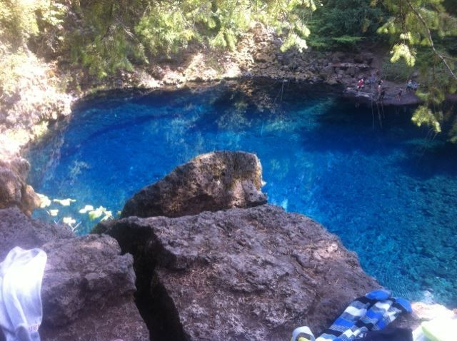This is what Tamolitch Blue Pool looks like during the summer months.  Plan your summer vacation here now.  VisitMcKenzieRiver.com