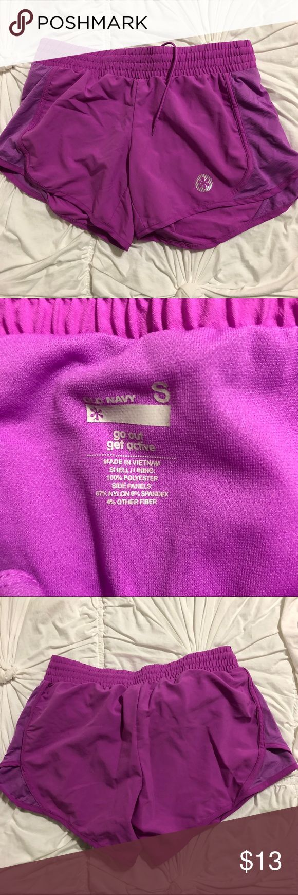 Women's Old Navy Workout Shorts Size Small Great condition. Lightweight material. Size Small. Great purple color.  Pet free/smoke free home. Old Navy Shorts
