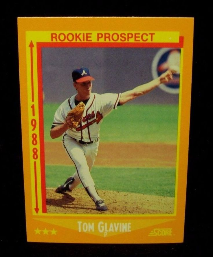 Lot Of (25) 1988 Score Rookie Cards # 638 Tom Glavine
