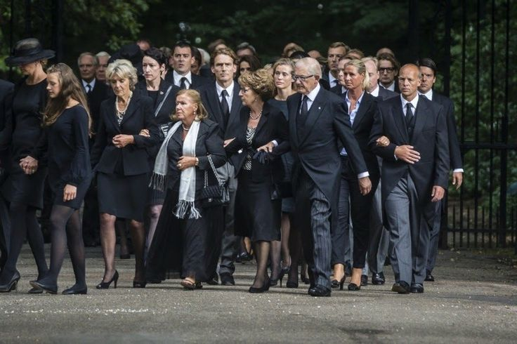 Members of the Dutch royal family attend the funeral of Prince Johan Friso: Princess Irene, Princess Christina and Princess Margriet with husband Prof. van Vollenhoven 8/16/13