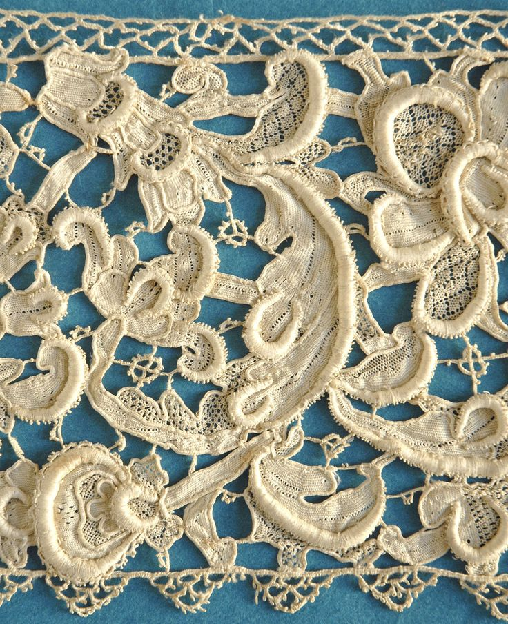 Antique Vintage 17th Century Venetian Rose Point Lace Border | eBay