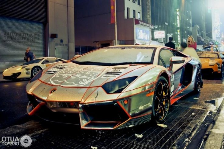 Lamborghini Silver Gold Gold chrome lamborghini ...