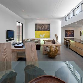 nice layout  contemporary living room by Ibarra Rosano Design Architects